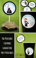 Free Printable Star Wars Graduation Party Tags