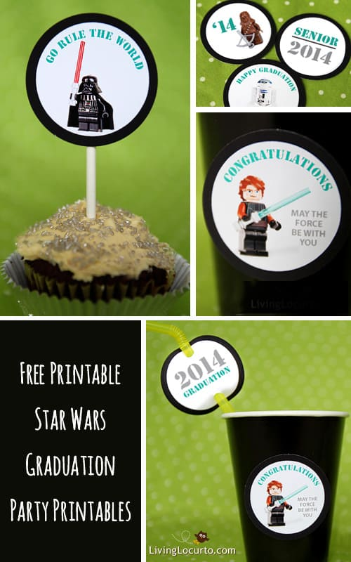 Star Wars Free Printable Graduation Party Tags. Exclusive limited time offer at LivingLocurto.com