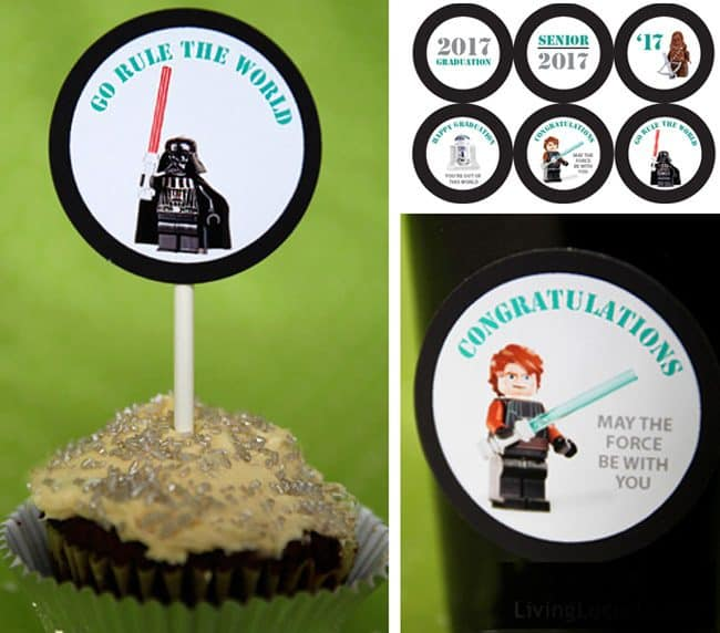 These cute Star Wars printable designs are perfect for a graduation party.