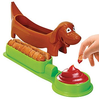 Weenie Dog Shaped Hot Dog Cutter! All kinds of hot dog goodies perfect for a summer party or funny gift!