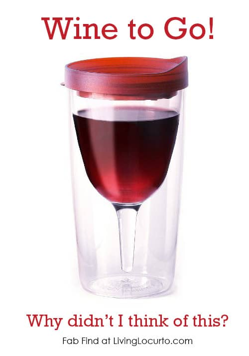 This Vino2Go Wine Tumbler is a fun party idea or gift! Fab Find Friday at LivingLocurto.com