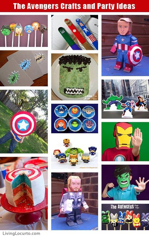 Avengers & Captain America Party and Craft Ideas at LivingLocurto.com