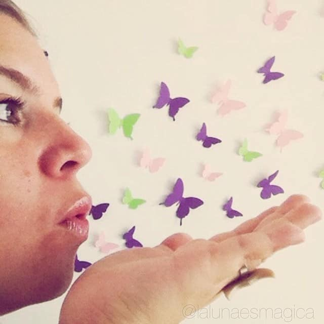 DIY butterfly paper wall decor