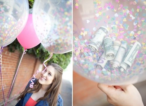 Graduation Party Money Balloons by Sugar and Charm Blog