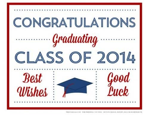 Free Printables for a Graduation Party via Catch My Party