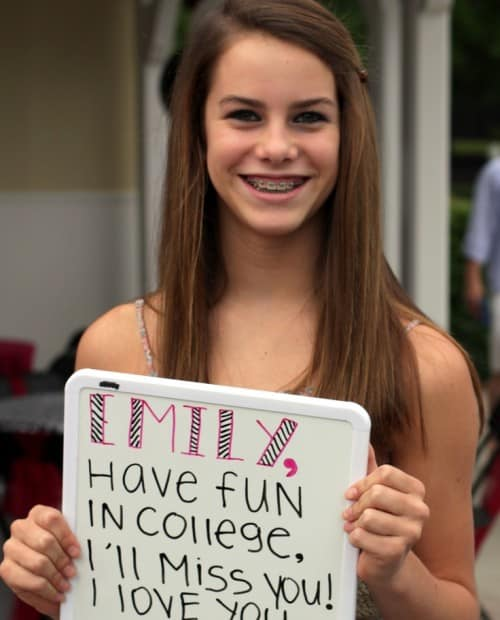 Graduation Party Photo Booth White Board Message By The Party Girl Events.