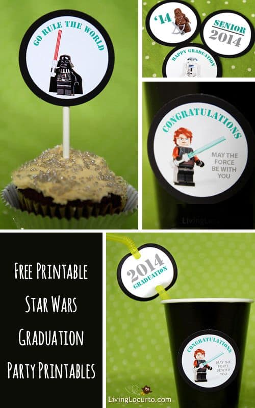 Star Wars Free Printables - Graduation Party Tags by LivingLocurto.com