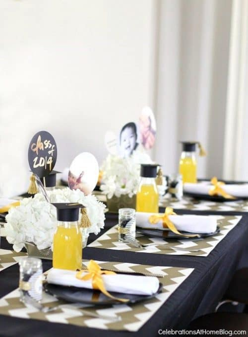 Graduation Party Table Idea by Celebrations at Home