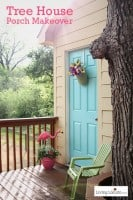 Tree house front porch makeover