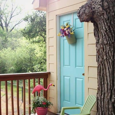 How to Paint an Exterior Door | Tree House Porch Makeover