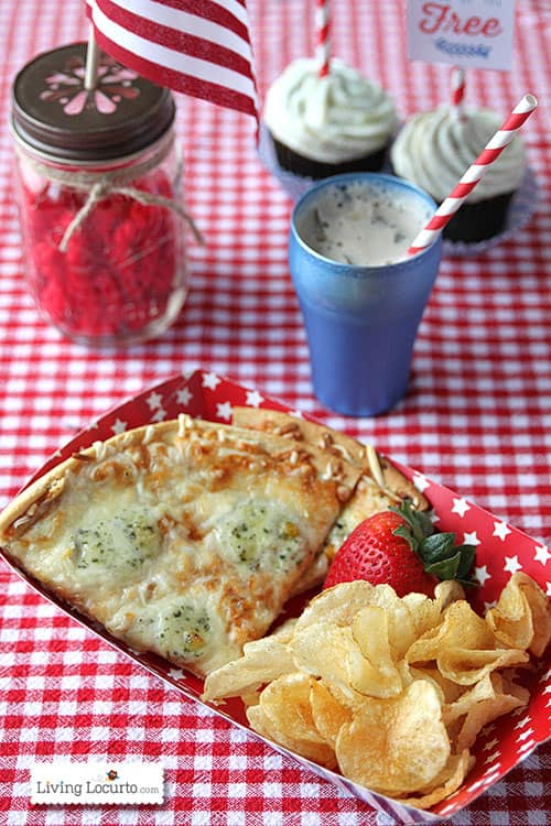 4th of July Party Ideas with Grilled Pizza. LivingLocurto.com