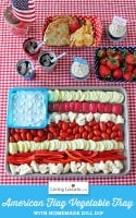 American Flag Vegetable Tray