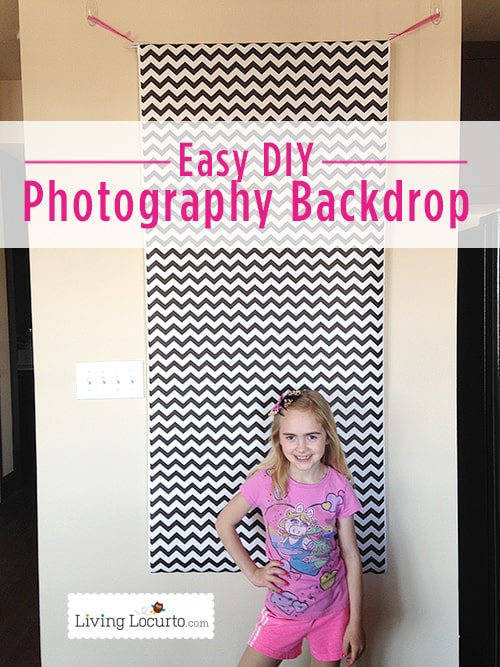 Easy homemade DIY Photo Booth Background idea! LivingLocurto.com
