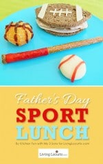 Fathers Day Sport Themed Fun Food Lunch