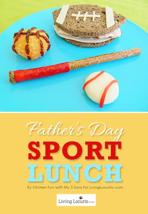 Father's Day Fun Food Sports Lunch Idea! LivingLocurto.com