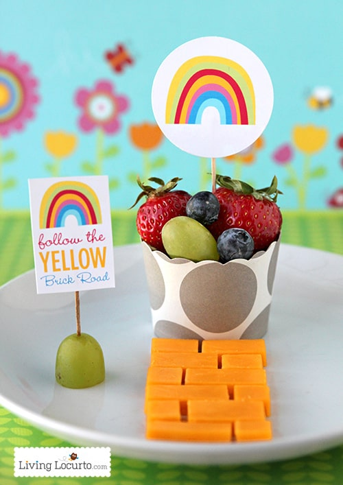 Free Rainbow Party Printables & Healthy Snack LivingLocurto.com
