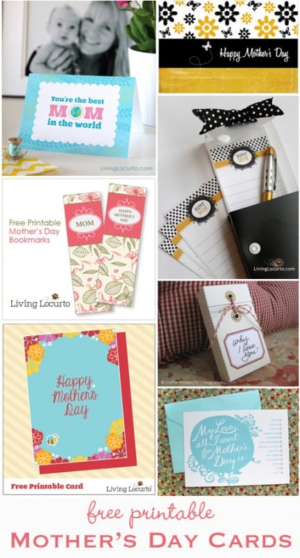 No time to order gifts? Printable Mother's Day Cards make great last-minute gift ideas!