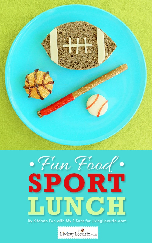 Cute Sports Lunch! Fun Food Idea. LivingLocurto.com