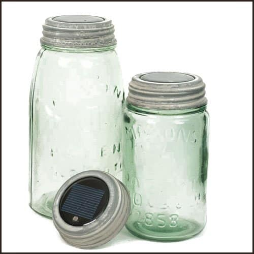 Mason Jar Galvanized Solar Jar Light