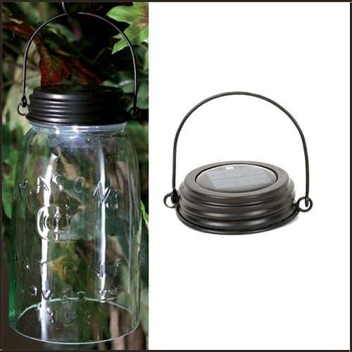 Mason Jar Solar Lid Light Hanger