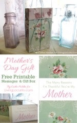 Mother's Day - Message Gift Box Tutorial {Free Printable}