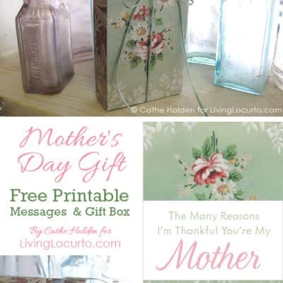 Free Printable Mother's Day DIY Gift Idea   Message in a Box