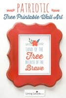 Free Printable Patriotic Wall Art {Red White & Blue Blog Hop}