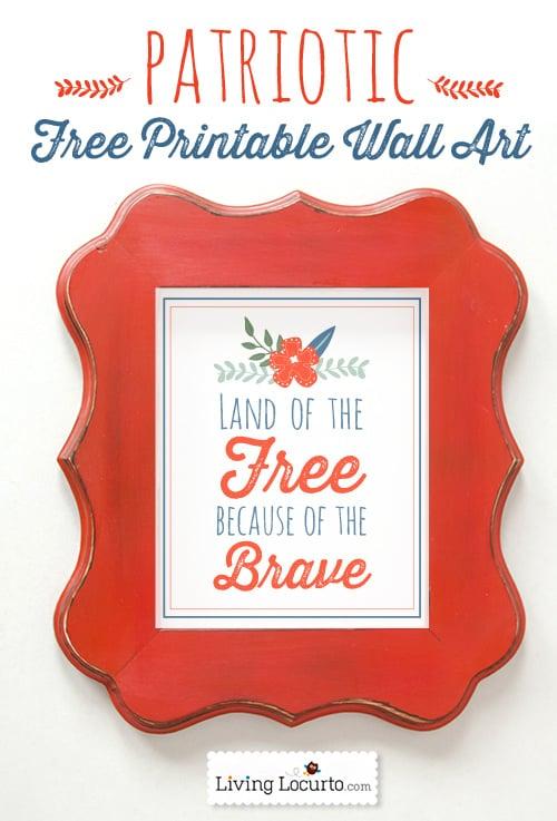 Patriotic Free Printables- Pretty Wall Art by LivingLocurto.com