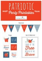 Patriotic Red White and Blue Party Printables