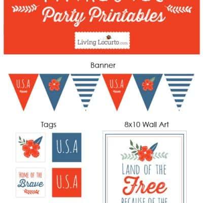 Patriotic Party Ideas and Printables