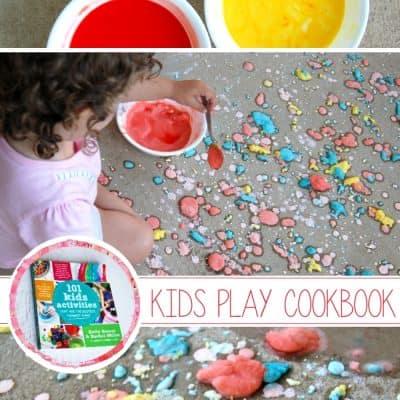 Fizzing Sidewalk Paint Craft | 101 Kids Activities Book Giveaway