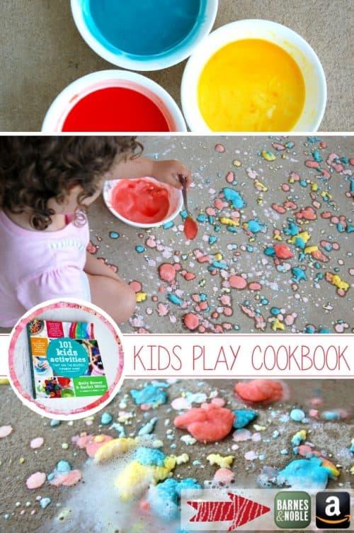Fizzing Sidewalk Paint Craft & 101 Kids Activities Book Giveaway! LivingLocurto.com