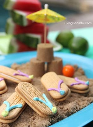 Flip Flop Cookies - 15 Easy Summer Cookie Recipes