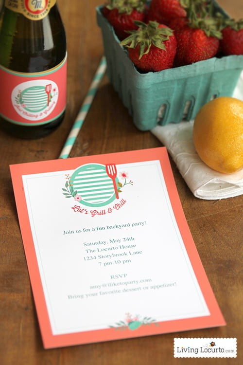 Free Summer Party Printables. Livinglocurto.com