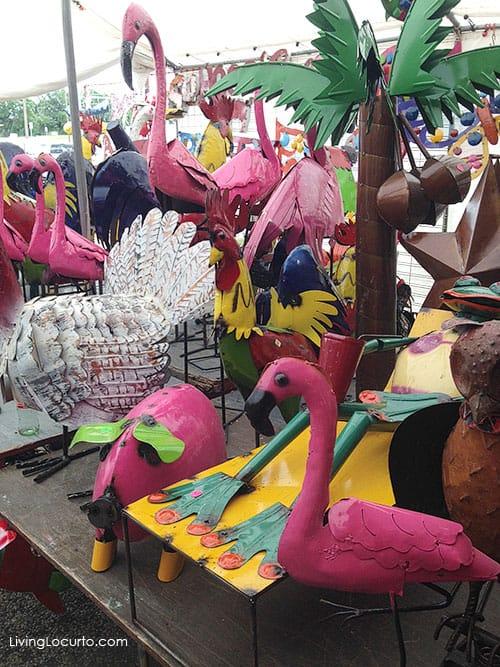 Metal Flamingos - First Monday Trade Days flea market in Canton, Texas