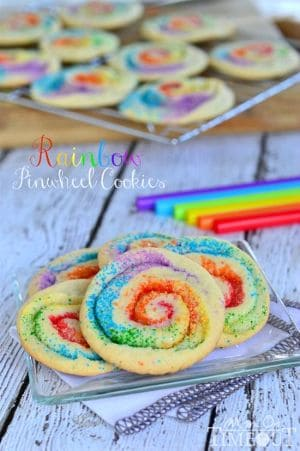 15 Easy Summer Cookie Recipes - Rainbow Pinwheel Cookies by Mom on Time Out - 15 Easy Summer Cookie Recipes
