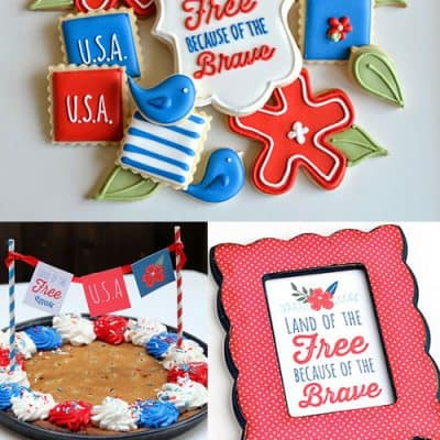 4th of July Patriotic Party Printable Ideas