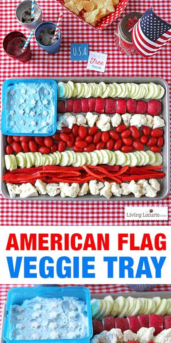 American Flag Vegetable Tray Platter 4th Of July Low Carb Recipe