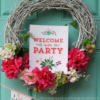 Beautiful Backyard Party Printable Collection