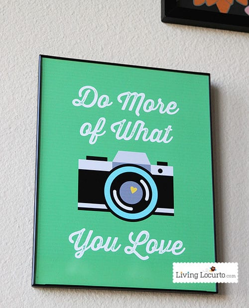 Camera & Photography Quote Printable Wall Art. LivingLocurto.com