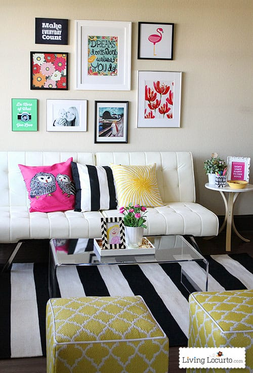 Bright and cheery office space tour! LivingLocurto.com