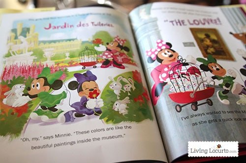 Minnie in Paris Kids Book and Minnie Mouse Ear Hair Clips Craft