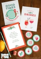 New! Floral Party Printables Collection