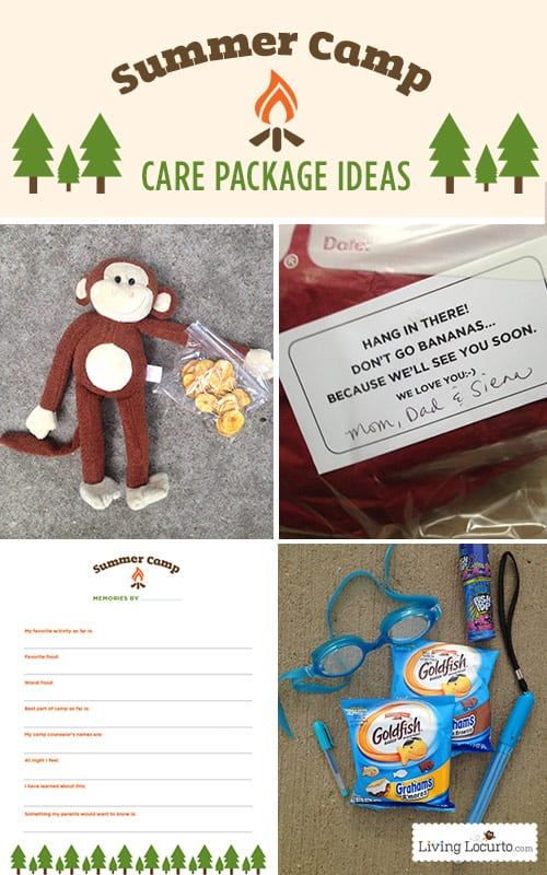 The most fun summer camp care package ideas for kids! Get cute ideas for your camper with free printable tags and a questionnaire for campers to mail home.