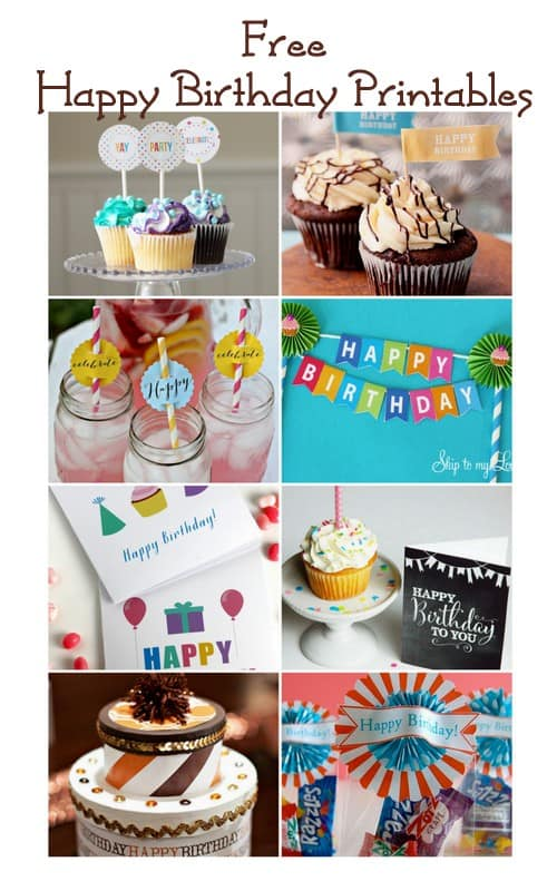 free happy birthday printables + blog hop