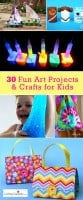 30 Easy Art Projects & Crafts for Kids