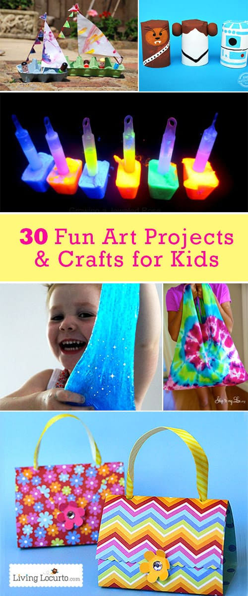 30 easy art projects crafts for kids for Kid arts and crafts