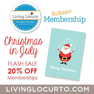 Living Locurto Christmas in July Sale! Great party printables