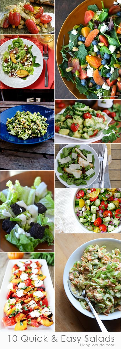 10 Quick and Easy Salad Recipes perfect for pizza!