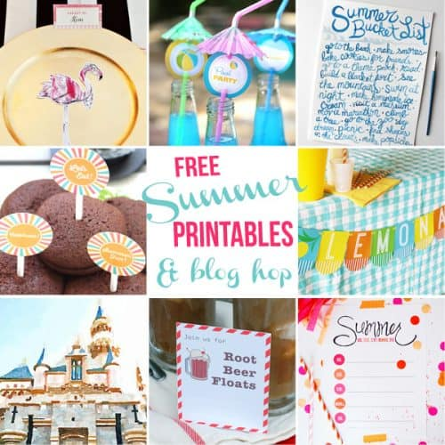Free Summer Party Printables Blog Hop